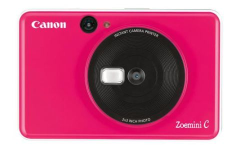Canon Zoemini C Pocket Size 2-in-1 Instant Camera Printer Bubble Gum Pink