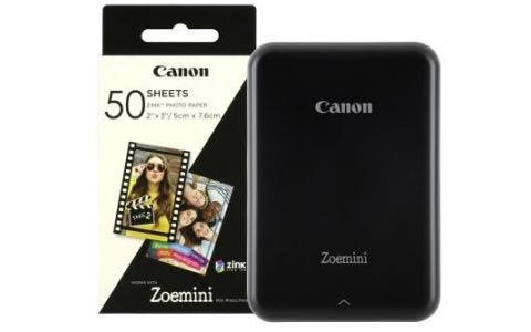 Canon Zoemini Slim Body Pocket Sized Photo Printer Black inc 60 Prints