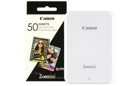 Canon Zoemini Slim Body Pocket Sized Photo Printer White inc 60 Prints