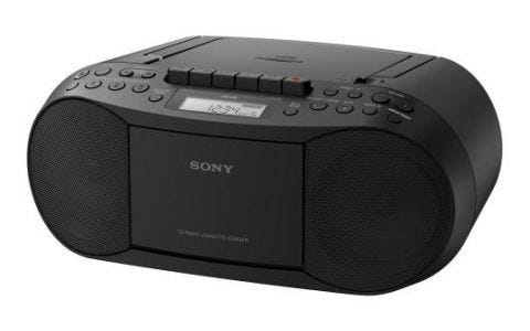 Sony CFD-S70 CD/Cassette Boombox with Radio - Black