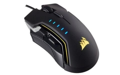 Corsair Gaming GLAIVE RGB Optical Gaming Mouse - Aluminum