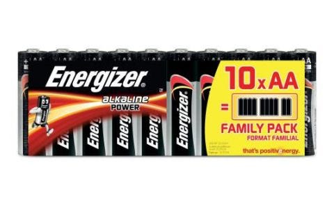 Energizer AA Alkaline Power Batteries - 10 Pack