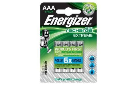Energizer 4x AAA Rechargable Extreme Nimh Batteries 800mAh