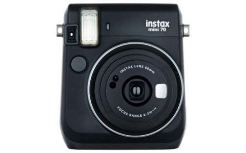 Fujifilm instax Mini 70 Instant Camera - inc 10 Shots - Black
