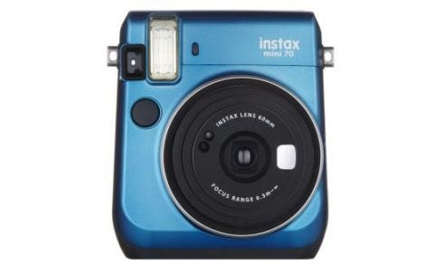 Fujifilm instax Mini 70 Instant Camera - inc 10 Shots - Blue