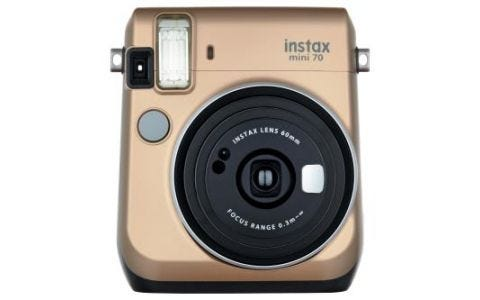 Fujifilm Instax Mini 70 Instant Camera - Gold inc 10 Shots