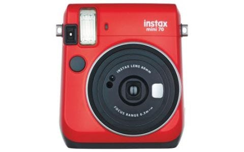 Fujifilm instax Mini 70 Instant Camera - inc 10 Shots - Red