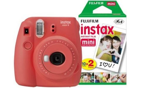 Fujifilm Instax Mini 9 Poppy Red Instant Camera inc 30 Shots