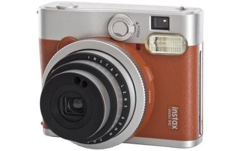 Fujifilm instax Mini 90 Instant Camera inc 10 Shots - Brown
