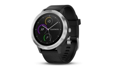 Garmin Vivoactive 3 Stainless Steel Silicone Smartwatch - Black