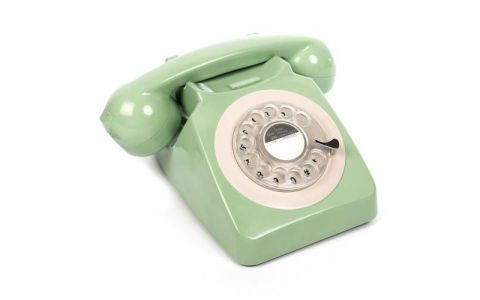 GPO 746 Retro Rotary Dial Telephone - Mint Green