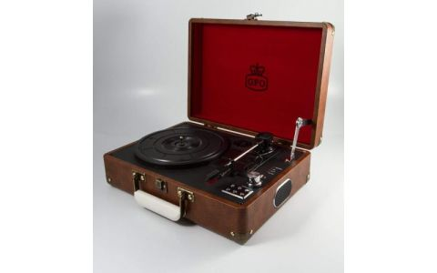 GPO 'Attache Case' Portable briefcase turntable - Vintage Brown