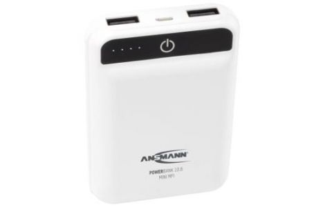 Ansmann Powerbank 10.8 Mini 10000mAh MFI with Lightning Cable - White