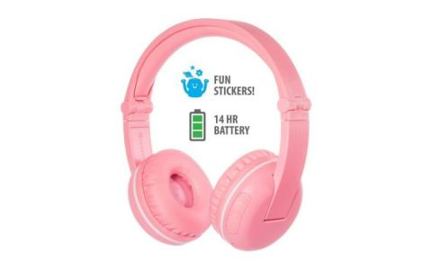 BuddyPhones Play Wireless Headphones - Sakura Pink