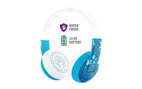 BuddyPhones Wave Wireless Headphones - Robot Blue