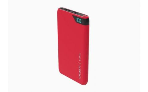 Cygnett ChargeUp Boost - 5000 mAh Dual USB 2.4A Powerbank Red