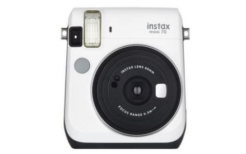 Fujifilm Instax Mini 70 Instant 10 Shots Camera - White