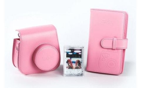 Fujifilm Instax Mini 9 Accessory Kit - Case, Album & Photo Frame - Flamingo Pink