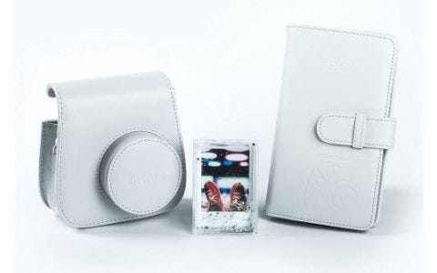 Fujifilm Instax Mini 9 Accessory Kit - Case, Album & Photo Frame - Smoky White