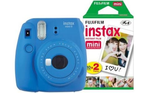 Fujifilm Instax Mini 9 Instant Camera inc 30 Shots -  Cobalt Blue