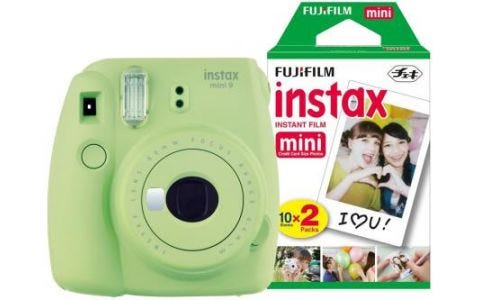 Fujifilm Instax Mini 9 Instant Camera inc 30 Shots - Lime Green