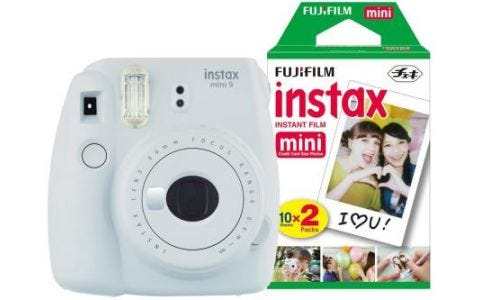 Fujifilm Instax Mini 9 Smoky White Instant Camera inc 30 Shots