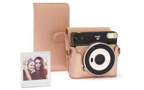 Fujifilm Instax SQ6 Accessory Kit - Case, Album & Photo Frame - Blush Gold