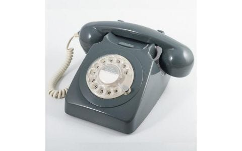 GPO 746 Retro Rotary Dial Telephone - Grey