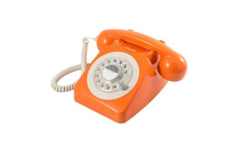 GPO 746 Retro Rotary Dial Telephone - Orange