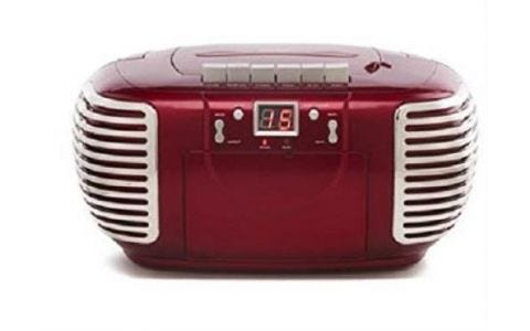 GPO PCD299 CD / Cassette Boombox - Red