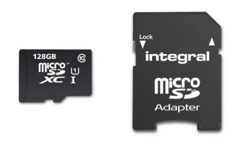 Integral 128GB Smartphone/Tablet Class 10 MicroSDHC Memory Card