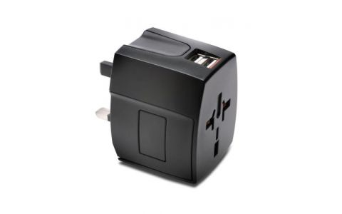 Kensington International Travel Adapter with 2.4 Amp Dual USB Ports