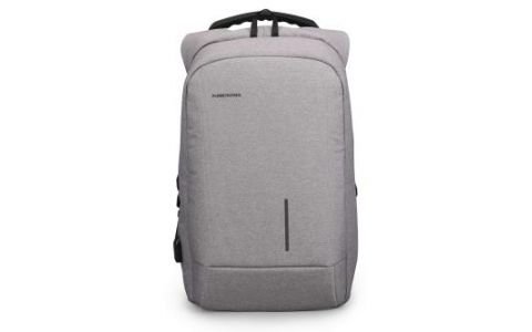 "Kingsons Smart Anti Theft USB Charge Series 15.6"" Laptop Backpack - Light Grey"