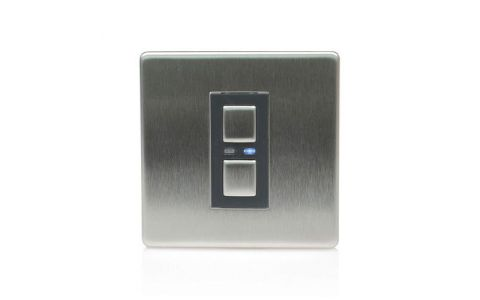 Lightwave Connect Series Dimmer Switch (1 Gang) - Stainless Steel