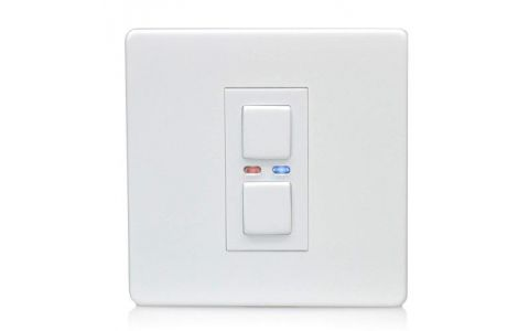 Lightwave Connect Series Dimmer Switch (1 Gang) - White Metal