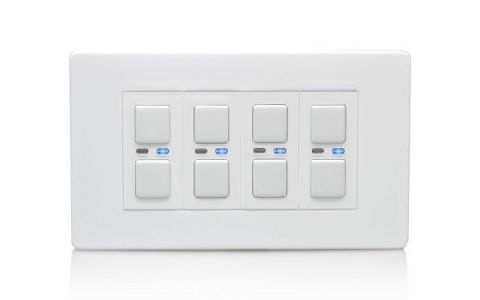 Lightwave Connect Series Dimmer Switch (4 Gang) - White Metal