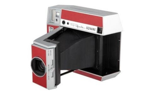 Lomography Instant Square Glass Camera Pigalle Red + 10 Shots