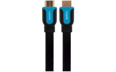 Maplin Premium HDMI Flat Cable Gold Connector 1080p 2K 4K 3m