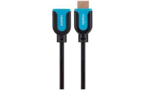 Maplin Premium HDMI Extension Male to Female Connection Cable 1.5m
