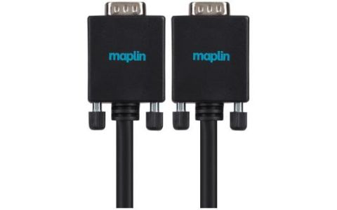 Maplin Premium VGA D-Sub Male to VGA D-Sub Male Monitor Cable