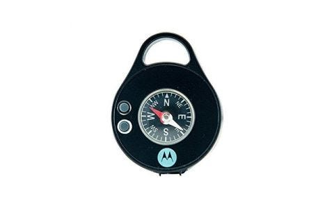 Motorola Pebl Personal Light with Carabiner Clip + Compass