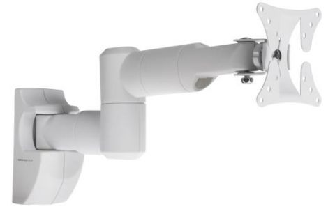 "ProperAV Swing Arm TV Wall Bracket 19""-28"" - White"