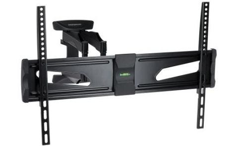 "ProperAV Swing Arm Wall TV Bracket Black 37""-70"" - Black"