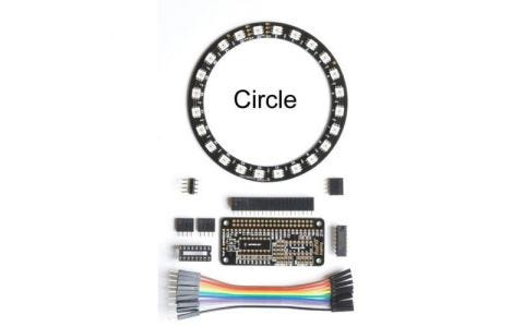 RasPiO InsPiRing - Programmable RGB LED shapes - Circle + driver