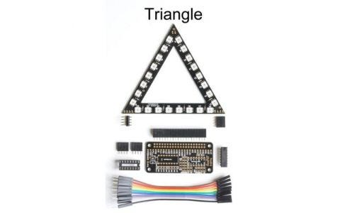 RasPiO InsPiRing - Programmable RGB LED shapes - Triangle + driver