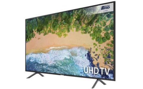 "Samsung 55"" LED Flat UHD TV - Charcoal Black"