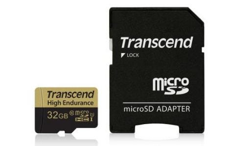 Transcend 32GB UHS-I U1 High Endurance MicroSD Card with Adapter