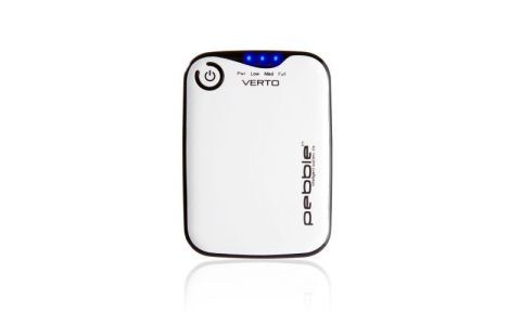 VEHO Pebble Verto portable battery back up power 3700mah - White