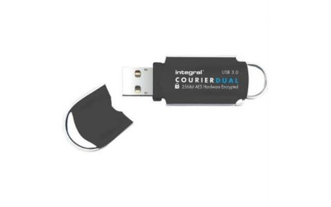 Integral 64GB Courier AES Dual User USB 3.0 Flash Drive