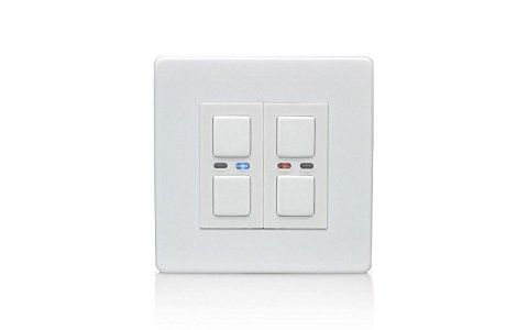 Lightwave Connect Series Dimmer Switch (2 Gang) - White Metal